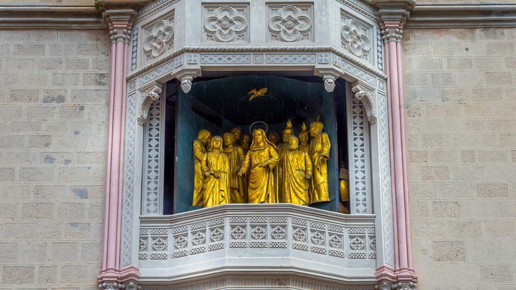 Campanile del Duomo di Messina: la Madonna della Lettera e gli ambasciatori