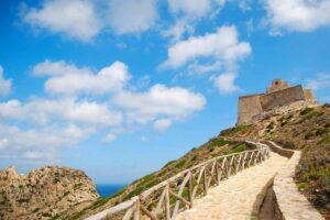 Il castello di Punta Troia sull'isola di Marettimo