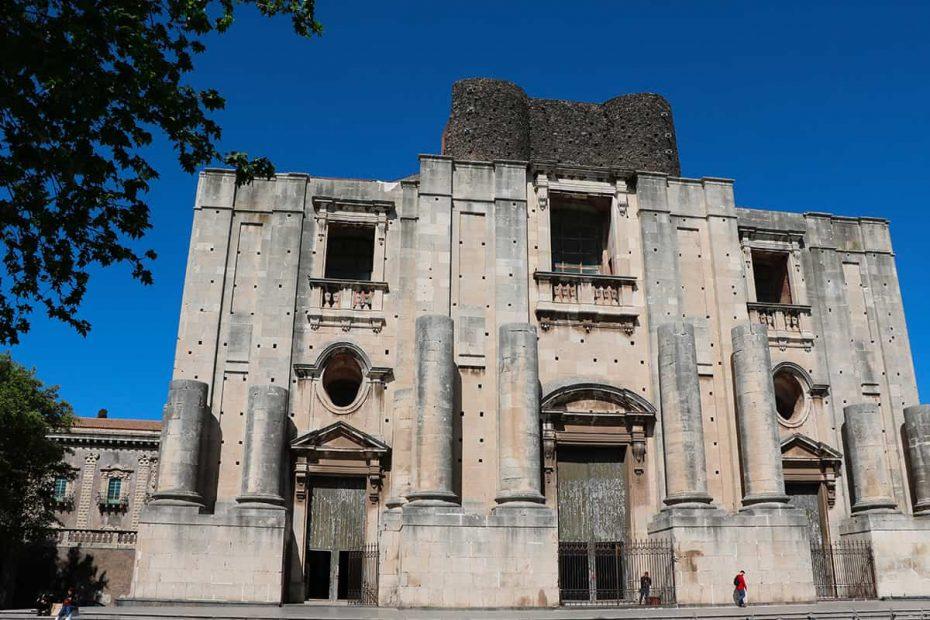 Facciata del Monastero di San Nicolò l'Arena di Catania