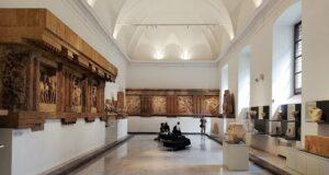 Interno della Sala delle metope dei templi C, E ed F di Selinunte del Museo Archeologico Salinas di Palermo