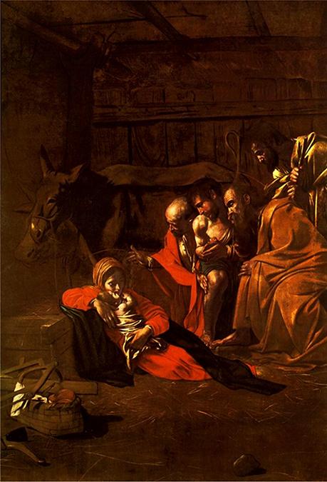 Il famoso quadro siciliano di Caravaggio l'Adorazione dei pastori