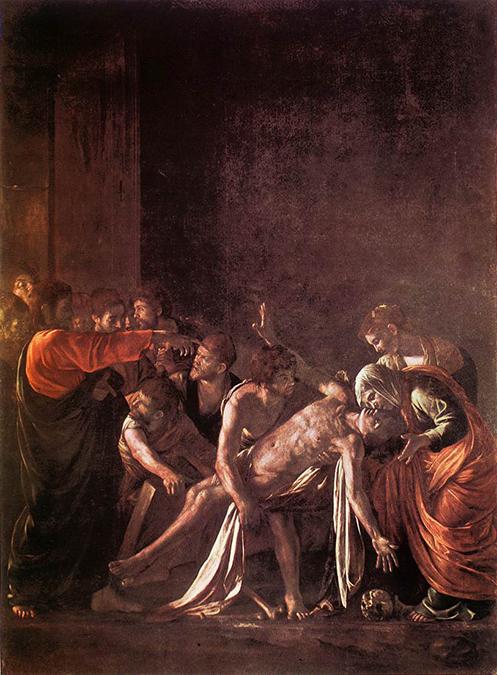 il quadro di Caravaggio La resurrezione di Lazzaro