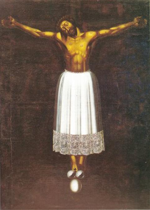 Il famoso quadro siciliano del Cristo in gonnella che si trova a Scicli nella chiesa di San Giovanni Evangelista