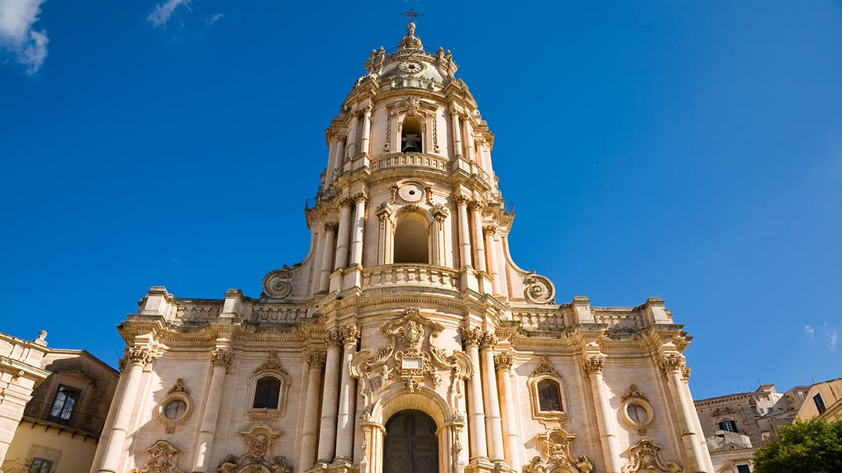 La facciata del Duomo di Modica