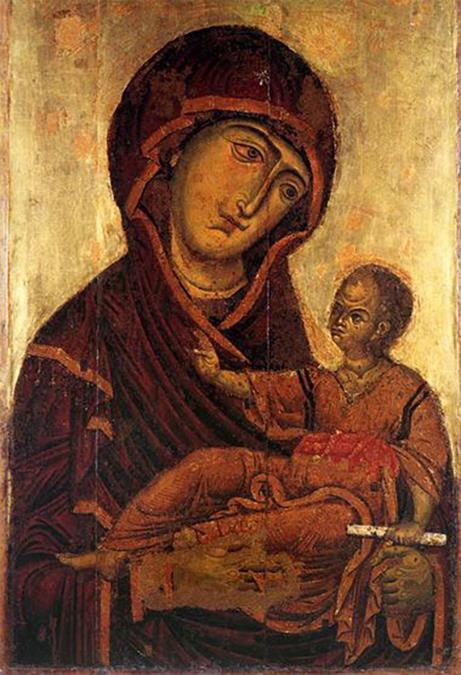 Il famoso quadro siciliano la Madonna della perla
