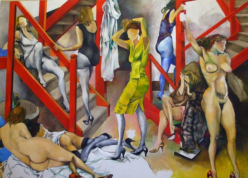 il quadro di Renato Guttuso Nella stanza le donne vanno e vengono