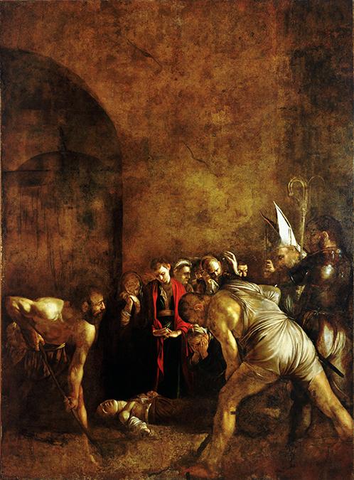 Il dipinto Il seppellimento di Santa Lucia di Caravaggio