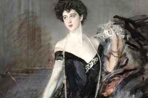 Donna Franca Florio ritratta in un dipinto del pittore Giovanni Boldini