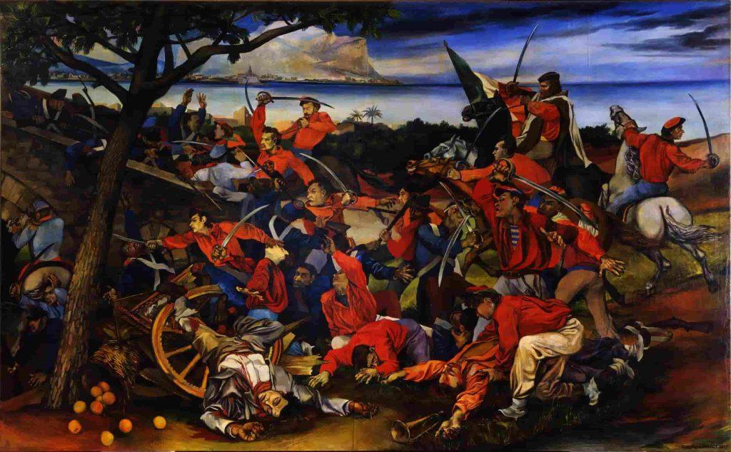 """Il quadro di Renato Guttuso """"La battaglia del Ponte dell'Ammiraglio"""""""