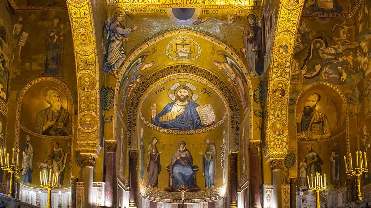 I mosaici della Cappella Palatina, uno dei siti patrimonio Unesco in Sicilia