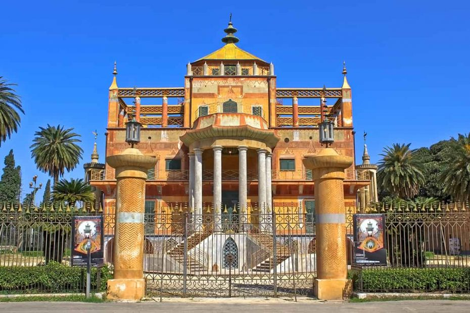 La facciata della Palazzina Cinese di Palermo