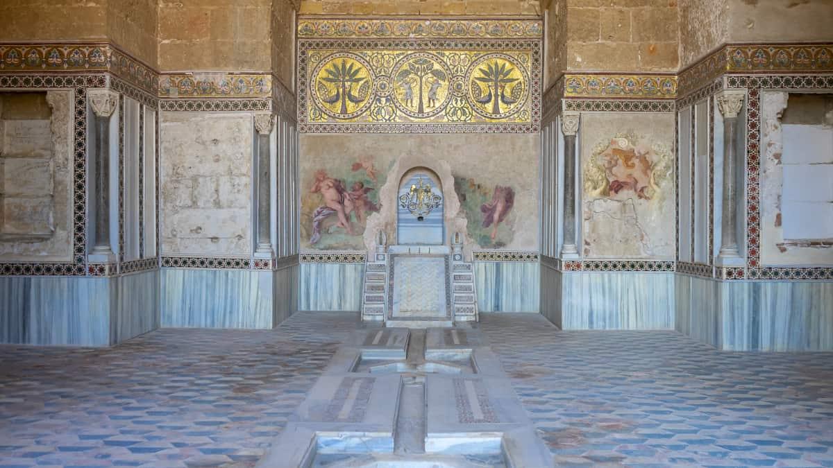 La Sala della Fontana nel Castello della Zisa