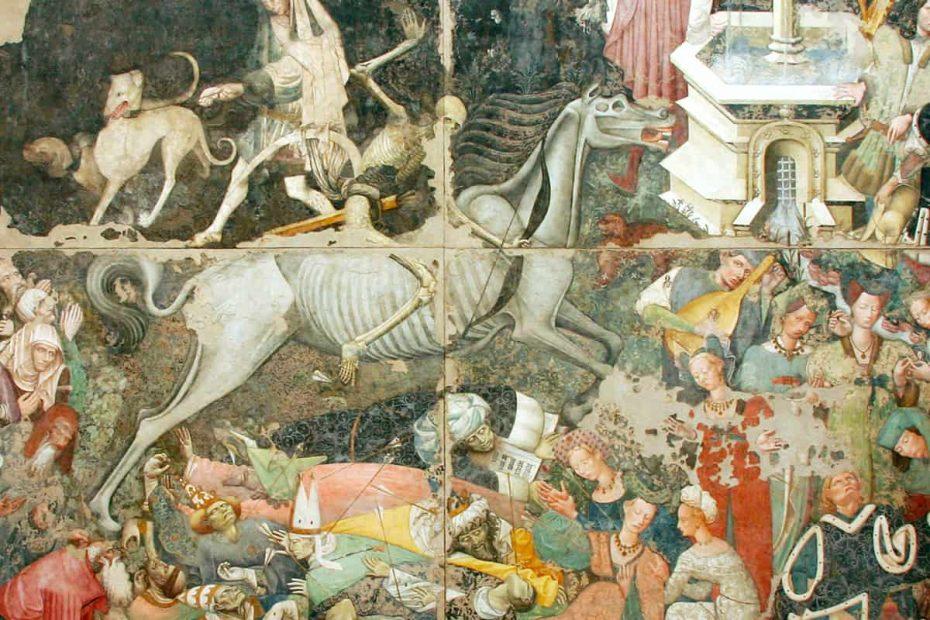 Particolare del quadro Il Trionfo della Morte